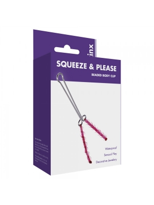Kinx Squeeze N Please Beaded Clit Clip Red OS