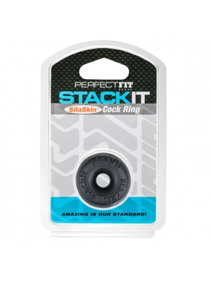 Perfect Fit Stackit Cock Ring Black OS