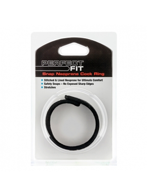 Perfect Fit Neoprene Snap Cock Ring Black OS