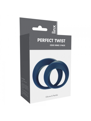 Linx Perfect Twist Cock Ring Set Blue OS