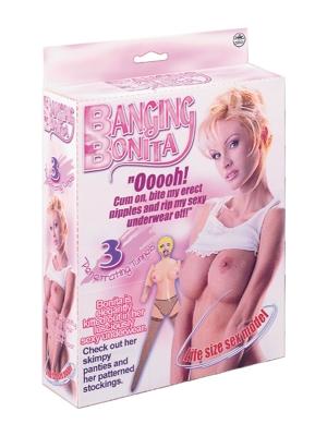 Nanma Banging Bonita Life Size Love Doll With 3 Penetrating Holes Pink OS