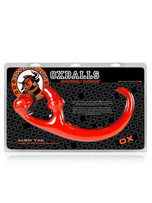 Oxballs Alien Tail Butt Plug Sling Red