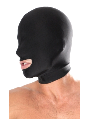 Fetish Fantasy Spandex Open Mouth Hood Black OS