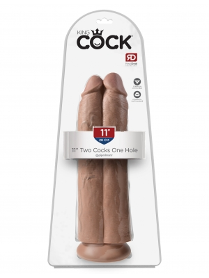 Pipedream King Cock Two Cocks One Hole 11''