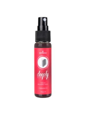 Sensuva Deeply Love You Throat Relaxin Transparent OS Cinnamon