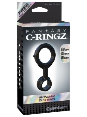 Pipedream Fantasy C-Ringz Ironman Duo-ring 3.5cm Black