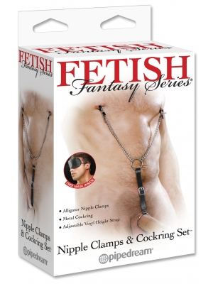 Pipedream Fetish Fantasy Series Nipple Clamps and Cockring Set