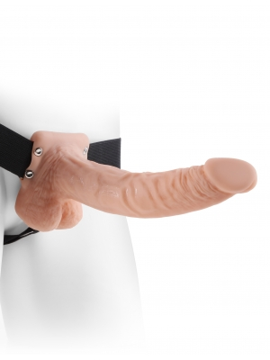 9 Inch Hollow Strap-On, Balls
