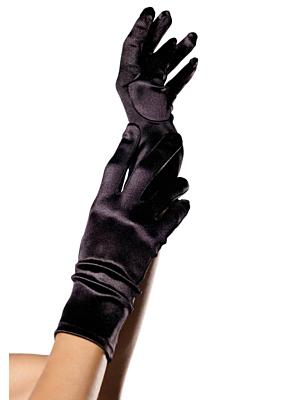 Wrist Length Satin Gloves