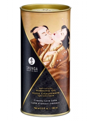 Aphrodisiac Warming Oil - Creamy Love Latte - 100ml