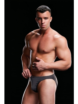 LOW-RISE BRIEF-GREY, S/M