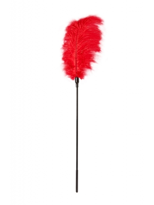 GP LARGE FEATHER TICKLER RED