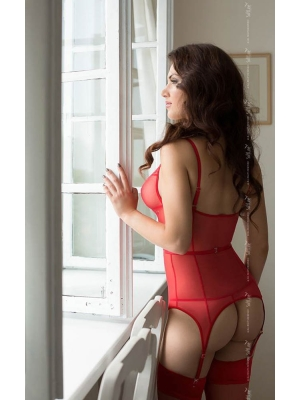 Diora Basque with String red
