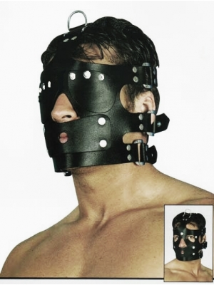 Leather Mask with closed eyes