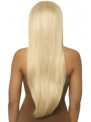 Long straight center part wig - Blonde