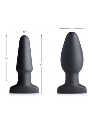 10X Inflatable + Vibrating Silicone Anal Plug