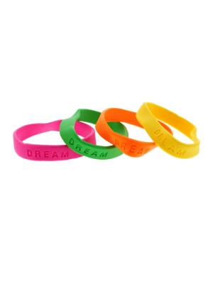 Assorted Neon DREAM Silicon Bracelets
