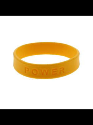 Yellow POWER Silicon Bracelet