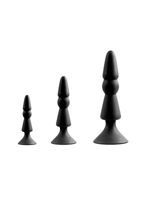 MENZSTUFF 3-PIECE ANAL CONE SET BLACK
