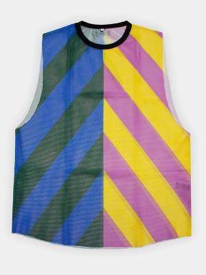 Tank Top Stripped Sunny - Yellow/Pink