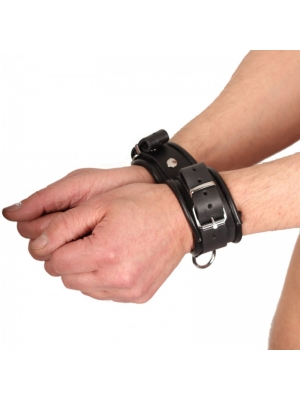Double leather handcuff