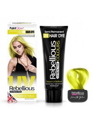 Semi-Permanent Hairdye, 70ml - Neon UV Yellow