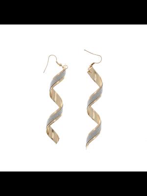 Glitter Spiral Earrings