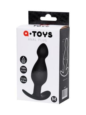 Anal plug A-Toys, size: S black