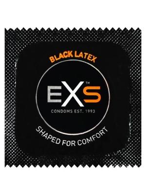 EXS Black Latex Condom 1 pcs