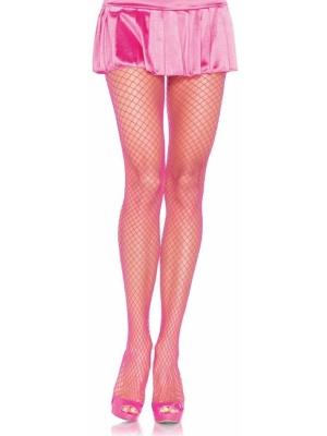 Lycra Fishnet Pantyhose - Pink