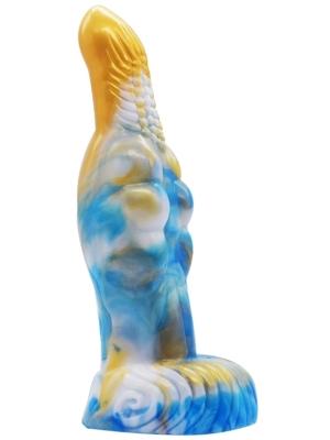 Freki Dildo 20 x 6cm Gold-Blue