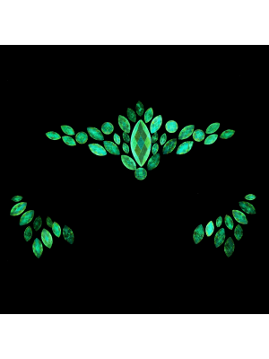 AB Glow in the Dark Crystal Stone Face Jewels - Style B
