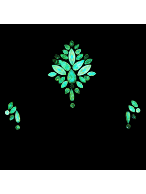 AB Glow in the Dark Crystal Stone Face Jewels - Style H
