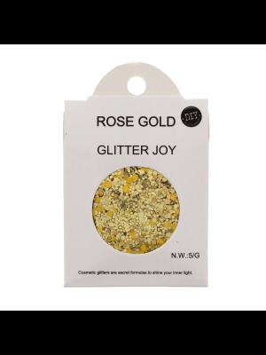 Rose Gold - Assorted Design Glitter for Skin, Hair & Nails