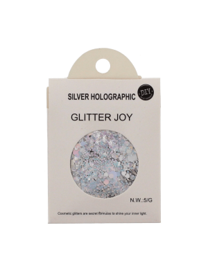 Silver Holographic - Assorted Design Glitter for Skin, Hair & Nails