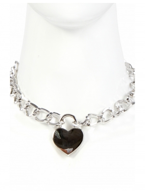 Necklace 38cm with heart Padlock