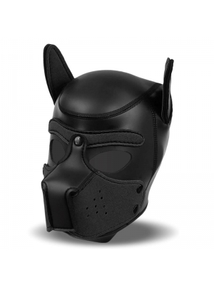 IntoYou Neoprene Dog Hound with Removable Muzzle Black Size L