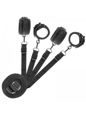 FETISH SUBMISSIVE CUFF AND TETHER SET