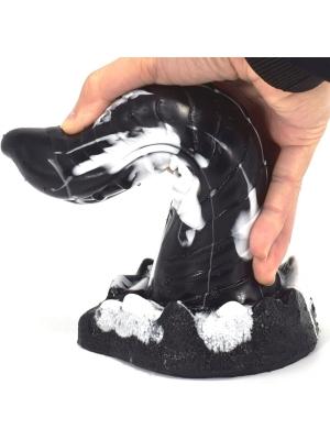 Lizard Dildo 20 x 5cm Black-White