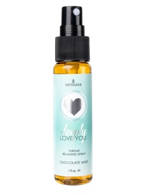 Sensuva Deeply Love You Throat Relaxin Transparent OS Chocolate