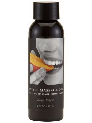 Earthly Body Edible Massage Oil Mango Passion Transparent 60ml