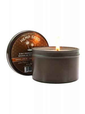 Earthly Body Ginger Jubilee Holiday Candle White 6oz