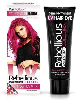 Semi-Permanent Hairdye, 70ml - Neon UV Pink