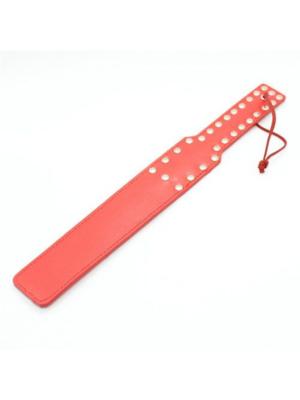 Σανίδα για ξύλο με δέρμα κόκκινο και καρφιά -Spank Paddle