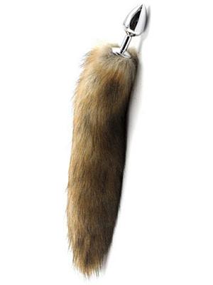 Long Fox Tail Anal Plug (yellow)