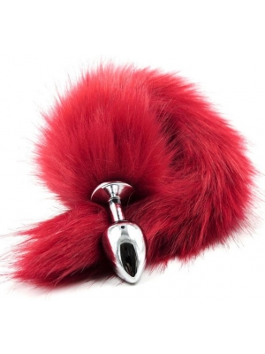Long Fox Tail Anal Plug (red)