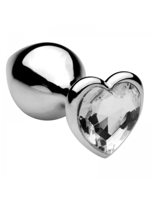 Heart Jewel Plug small (clear)