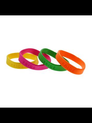 Assorted Neon PRIDE Silicon Bracelets