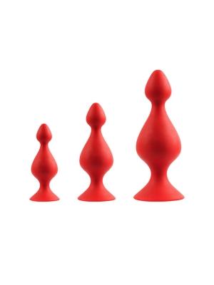 MENZSTUFF 3-PIECE ANAL PAWN SET RED