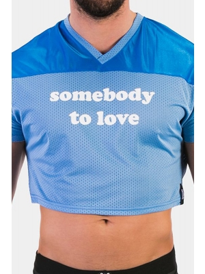 Crop Tee Somebody To Love - Blue